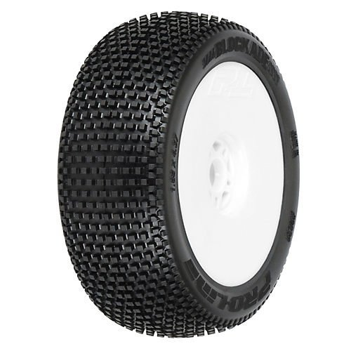 Pro-line Racing 1/8 Blockade X2 Mnt LTWT Velocity Wheel, White: BX (Buggy Mbx5r)