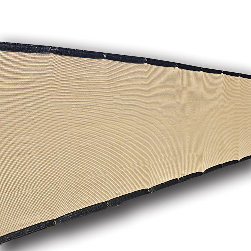 Alion Home Heavy Duty Privacy Screen with Black Trim for Patio, Deck, Balcony, Backyard, Fence, Pool, Porch, Railing, Apartment Privacy - Beige (3'x 16') by Alion Home