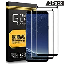 AOFU Glass Protector,Samsung Galaxy S8 Screen Protector, [Tempered Glass], Bubble Free (2 PACK)-WJDM01