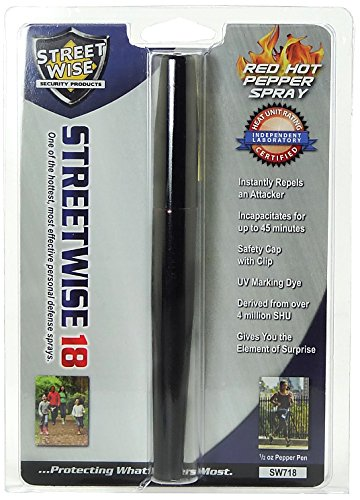 Streetwise Security Products Lab Certified Streetwise 18 Pepper Spray, 1/2-Ounce, Black Pen ()