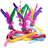 Amor Feather Kick Shuttlecock, 4 Pcs Colorful Chinese Jianzi Foot Exercise Outdoor Toy Game