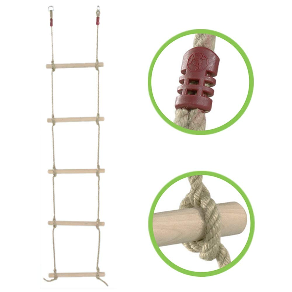 GYZ Climbing Ladder Wooden Climbing Ladder Children Indoor Outdoor Swing Fitness Playground Equipment -1.8M Outdoor Toys