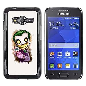 Paccase / Dura PC Caso Funda Carcasa de Protección para - Scary Clown White Face Big Teeth Skeleton - Samsung Galaxy Ace 4 G313 SM-G313F