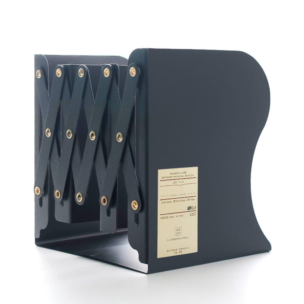 3 Colori Opzionale 11 X 15 X 19 Cm QIANGDA Reggilibri Libreria Estensione di Tipo Bookrack Desktop Lamiera di Acciaio Scaffale Clip Libro Pieghevole Colore : Bianca