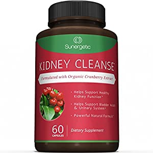 Best Kidney Cleanse Supplement – Premium Kidney Support Formula With Organic Cranberry Extract Helps Support Healthy Kidneys, Detox, Bladder Health & Urinary Tract– 60 Vegetarian Capsules