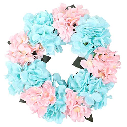 Transser Flower Wreath - 12 Inches Artificial Decorative Leaves & Flowers for Bride Bridesmaid Merry Christmas Party Thanksgiving Wall Window Door Wall Garland Decoration Cooktops ()