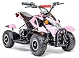 kids atv - Rosso Motors Kids ATV Kids Quad 4 Wheeler Ride On with 500W 36V Battery Electric Power Lights in Pink Motorcycle for Girls, Disc brake system for Child Safety