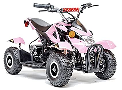 Rosso Motors Kids Atv Kids Quad  Wheeler Ride On With W V Battery Electric Power