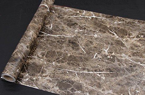 Moyishi Dark Brown Granite Look Marble Gloss Film Vinyl