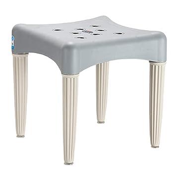 Amazon.de: ICEJUNE Haushalt Kunststoff Quadratischen Stuhl ...