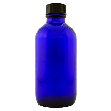 6136c138d06a Blue Glass Bottle with Phenolic Caps 4oz