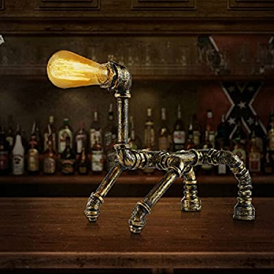 China Palaeowind Creative Personality Pipeline Puppy Robotic Table Lamp Work Table Lamp