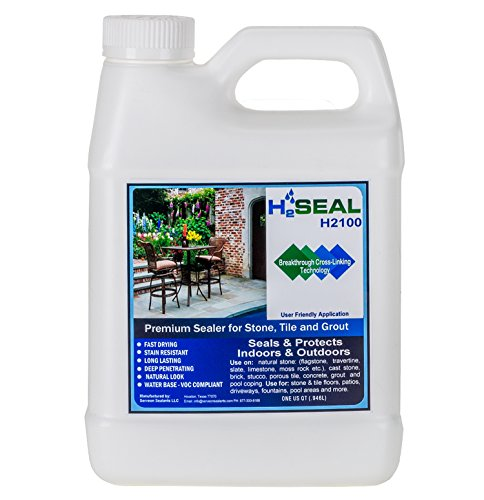 Serveon Sealants H2Seal H2100 Stone Sealer - Professional Grade for Natural Stone, Grout, Brick, Tile and Artificial Stone (1 Quart, Stone Sealer) - Garage Floor Paint Reviews