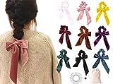 9 PCS Hair Scrunchies Bow Velvet Elastics Hair Ties Scrunchy Hair Bands Vintage Aceessories Ponytail Holder for Women Girls