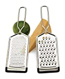 RSVP Endurance Stainless Steel Cheese Grater, Set of 2