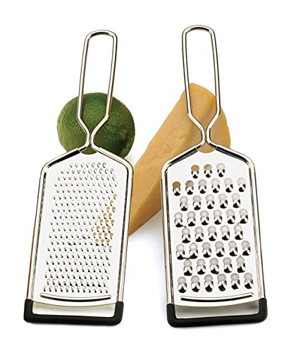 RSVP Endurance Stainless Steel Cheese Grater, Set of -