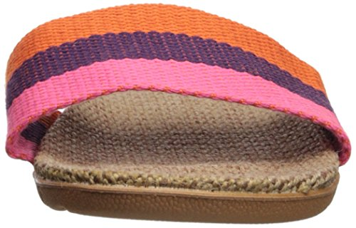 Stripes Slippers House Urban Skidproof Linen Unisex CoCo Orange FwxH1qRHE