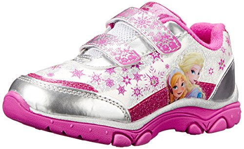 UPC 699302580008, Disney Frozen Elsa and Anna Light-Up Sneaker, White/Pink, 11 M US Little Kid