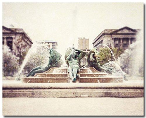 Philadelphia Photography, Swann Memorial Fountain Photograph, Rustic Decor, Urban Art, Water, Sculpture Picture, Logan Circle