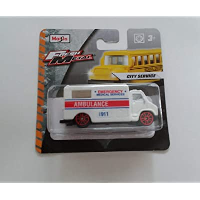 Maisto Fresh Metal Die-Cast Vehicles ~ Ambulance (Emergency Medical Services): Toys & Games [5Bkhe1201474]