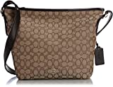 COACH Women's Signature Dufflette LI/Khaki/Brown Shoulder Bag