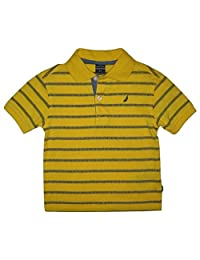 "Nautica Toddler Boys' ""Dashing Around"" Knit Polo, Gold, 2T"