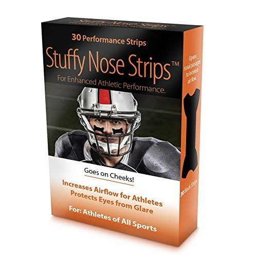 Eye Black PERFORMANCE Strips - Better than Eye Black! OPENS AIRWAYS and Protects Eyes From the Glare -OPENS AIRWAYS by over 61% vs 30% for Nasal Strips that go over the nose! (Football Under Eye)