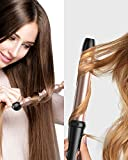 BESTOPE Curling Iron 5 in 1 Curling Wand Set with 5 Interchangeable Ceramic Tourmaline Barrels, Include Heat Resistant Glove and Clips, Rose Gold 0.35'' to