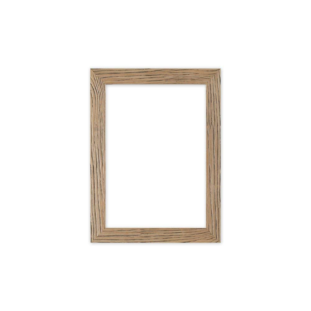 Driftwood effetto piatto Sleek Picture photo poster Frame Frame Frame – modanatura 30 mm di larghezza e 16 mm di profondità – drftwd-px-rl-glsparent, Natural, 9.5  x 11.8  (24 x 30 cm) with Plastic Glass | Facile Da Pulire Surface
