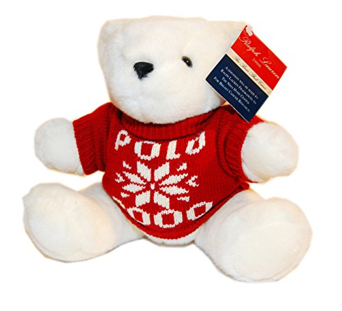 RALPH LAUREN Polo Collection Limited Edition 2000 Christmas Teddy Bear Red White