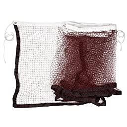 Nylon Braided Mesh Badminton Sport Training Net 20Ft 6M Burgundy White