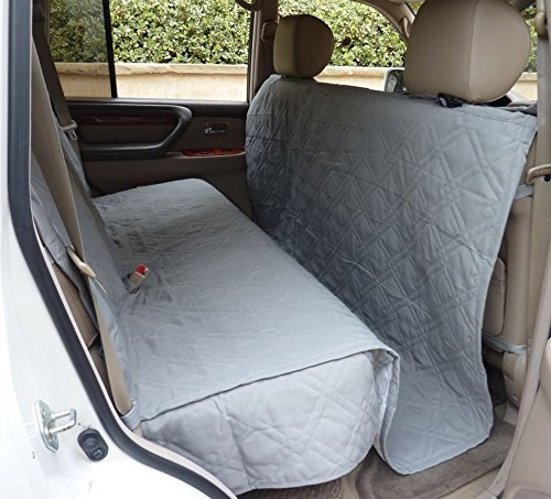 NEW Gray Suv Truck Car Back Seat Cover For Dogs and Cats. Quilted & Padded (Towels Canada Tan)