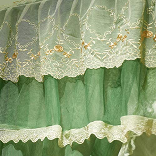 KE & LE 4 Corners Tent Mesh Canopy Curtains with Bottom Curtains for Girls, Cozy Drape Mosquito Net Openings Mosquito Tent Cute Princess Bedroom Decoration Accessories-b W:180cmxh:210cmxd:220cm by KE & LE (Image #2)