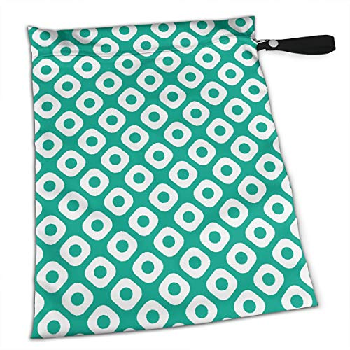 Jadeite Pure Color Circle Tote Travel Accessories Size Happens Reusable Laundry Beach Toddler Dry Bag for Workout Swim Wet Kid Baby Gym Clothes Cloth Diaper Wetbag -