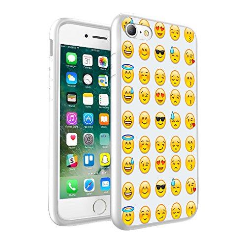 iPhone X Hülle, einzigartige Custom Design Prodective harte zurück dünner dünner Fit PC Bumper Case Kratzfeste Abdeckung für iPhone X - Emoji 0013