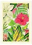 Michel Design Works Natural Cotton Kitchen Towel, Vanilla Palm