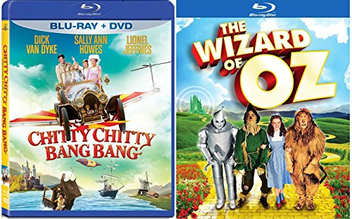 Chitty Chitty Bang Bang Blu Ray + DVD & The Wizard of Oz Blu Ray Set Musical Classic Bundle Movies