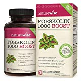 NatureWise Premium Forskolin 1000 Boost | Highest Concentration Pure Active Forskolin for Weight Loss + Natural Fat Burner Blend with Green Tea, Yerba Mate, Guarana & Coleus Forskohlii | 60 capsules