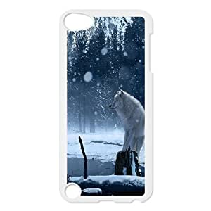 Wolf and moon,smart wolf series protective cover FOR Ipod Touch 5 u-ycq-s53130