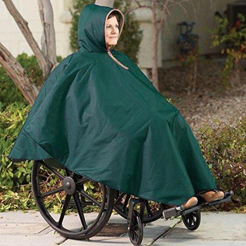 CareActive Wheelchair Rain Poncho- Color: Forest