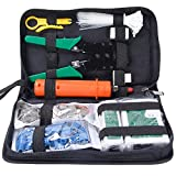 SGILE Network Tool Kits Professional Net Computer Maintenance LAN Cable Tester 9 in 1 Repair Tools