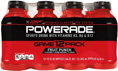 POWERADE Fruit Punch, ct 12, 12 FL OZ botella