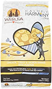 Weruva Caloric Harmony, Chicken, Turkey & Salmon Dinner with Pumpkin Dry Dog Food, 24lb Resealable Bag