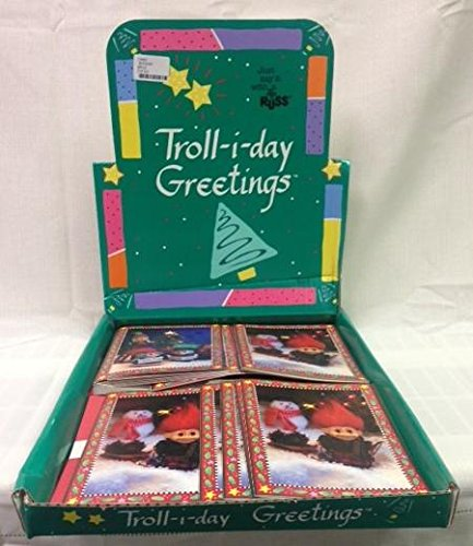 36 Troll-i-Day Christmas Holiday Greeting Cards, Including 4 Different Designs - Trolls - Sledding, Decorating, Caroling and Resting by the - Diy Elvis Costume