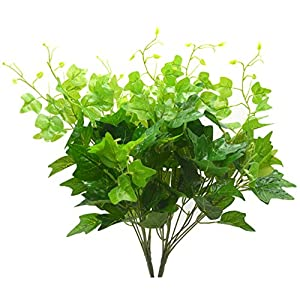 Bird Fiy Artificial Greenery Silk English Ivy Leaves Fake Bouquet Simulation Greenery Bushes Indoor Outside Home Garden Office Verandah Wedding Décor 2PCS Artificial Plants 96