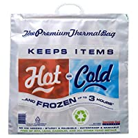 Bolsa de frío caliente | Refrigerador térmico con aislamiento, Tamaño de la tienda de comestibles, Rojo /Azul