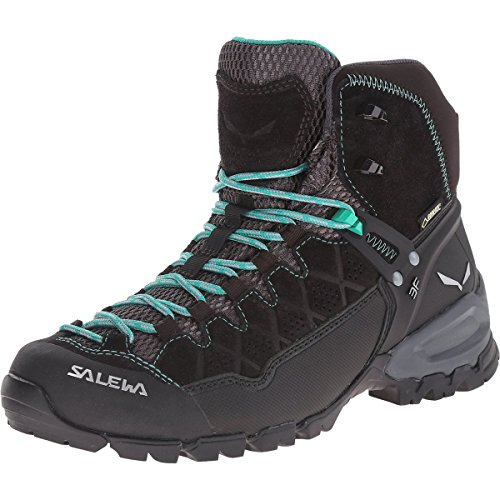 (Salewa Women's ALP Trainer MID GTX-W Boot, Black Out/Agata, 8 D)