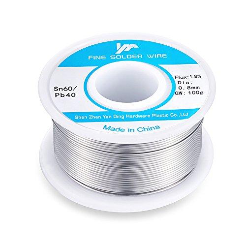 Buy Bargain 60-40 Tin Lead Rosin Core Solder Wire Reel Roll for Electrical Desoldering Wick 100g/0.2...