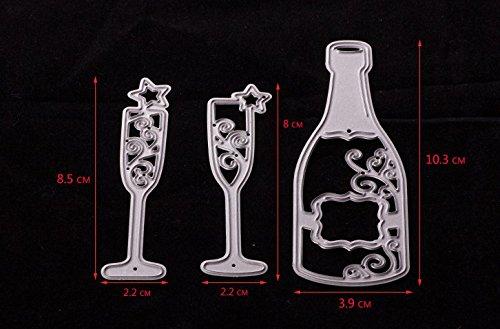 Nuevos dados de corte de metal para DIY Stamp Photo Scrapbooking Album Card Making Embossed Template Decorating Champagne