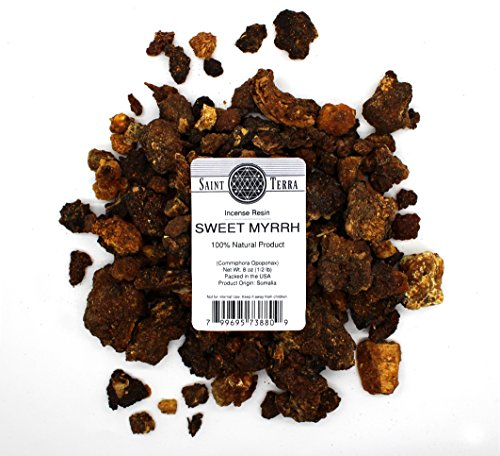 Saint Terra - Sweet Myrrh Incense Resin (Opoponax Gum), 8 Ounces ()